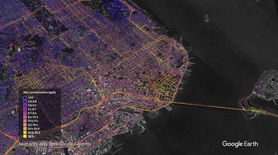 Google, 'Getting hyper-local: Mapping street-level air quality across California'
