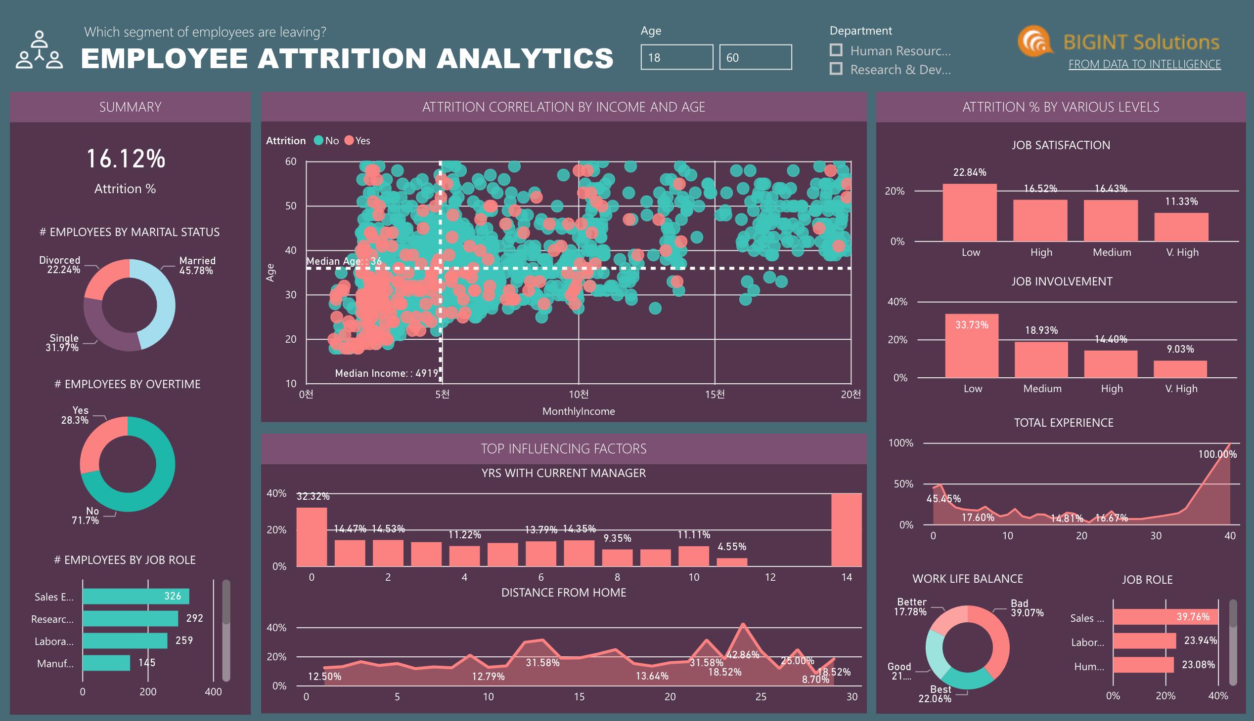 인사 HR analytics 애널리틱스 데이터 대시보드 시각화